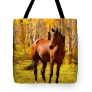 Beautiful Autumn Horse Tote Bag