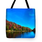 Beautiful Autumn Reflections On Bald Mountain Pond Tote Bag