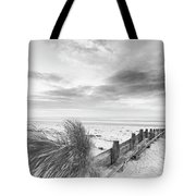 Beautiful Beach Coastal Low Tide Landscape Image At Sunrise In B Tote Bag