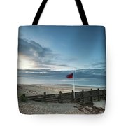 Beautiful Beach Coastal Low Tide Landscape Image At Sunrise With Tote Bag