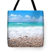 Beautiful Beach Panoramic Landscape Tote Bag
