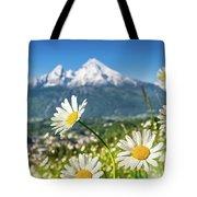 Beautiful Blooming Flower Panorama Tote Bag