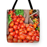 The Bountiful Harvest At The Farmer's Market Tote Bag