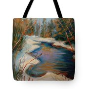 Beautiful Brook In Winter Tote Bag