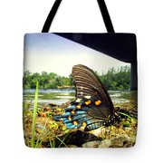 Beautiful Butterfly At The River II Tote Bag