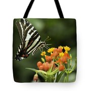 Beautiful Butterfly Waving Tote Bag