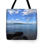 Beautiful Calm Ocean Water's In Casco Bay Maine Tote Bag