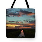Beautiful Canal Sunset In Florida Tote Bag