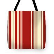 Modern Christmas Stripe Pattern Series Red Currant, Cream, Blush Tote Bag