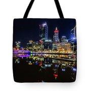 Beautiful Cityscape At Perth's Elizabeth Quay  Tote Bag