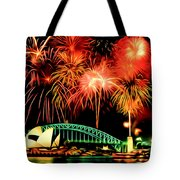 Beautiful Colorful Holiday Fireworks 2 Tote Bag