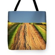 Beautiful Colors Along A Saskatchewan Country Road Tote Bag