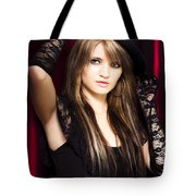 Beautiful Costumed Young Showgirl Tote Bag
