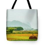 Beautiful Countryside Scenery In Autumn Tote Bag