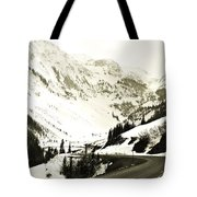 Beautiful Curving Drive Through The Mountains Tote Bag