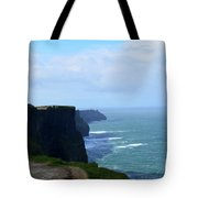 Beautiful Day At The Cliff's Of Moher In Ireland Tote Bag