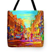 Beautiful Day  In The City Tote Bag