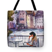 Beautiful Day, Reading Tote Bag