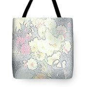 Beautiful Flower Sketch  Tote Bag