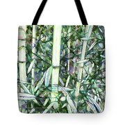 Beautiful Green Leaf Bamboo Tote Bag
