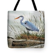 Beautiful Heron Shore Tote Bag