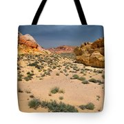 Beautiful Hiking In The Valley Of Fire Tote Bag