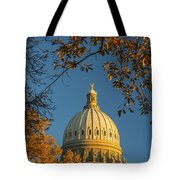 Beautiful Idaho State Capitol In Autumn Morning Tote Bag