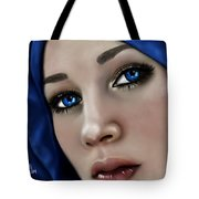 Beautiful In Blue Version 2 Tote Bag