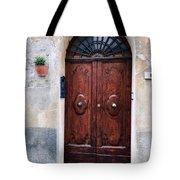Viaje Beautiful Italian Door Volterre  Tote Bag