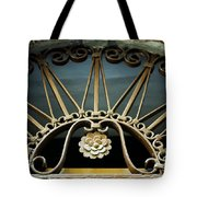 Beautiful Italian Metal Scroll Work Tote Bag