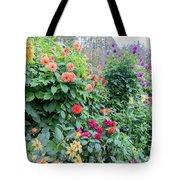 Beautiful Lot Of Dahlias,butchart Gardens,victoria,canada Tote Bag