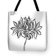 Beautiful Lotus... Black-white Mood Tote Bag