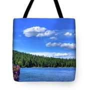 Beautiful Luby Bay On Priest Lake Tote Bag