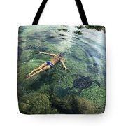 Beautiful Man And Turtle Tote Bag