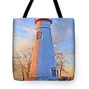 Beautiful Marblehead Lighthouse Tote Bag