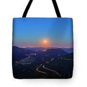 Beautiful Moon Rise At Rocky Mountain National Park Tote Bag