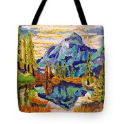 Beautiful Mountainous Reflection  Tote Bag