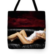 Beautiful Naked Woman On A Couch Tote Bag