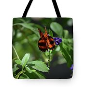 Beautiful Oak Tiger Butterfly On Purple Flowers Tote Bag