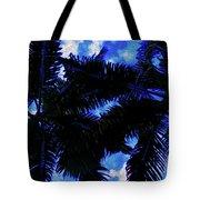 Beautiful Palm In Blue Sky Tote Bag
