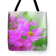 Beautiful Pink Flower Blooming For Background. Tote Bag