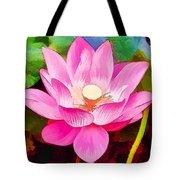 Beautiful Pink Lilies Tote Bag