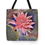 Beautiful Pink Lotus Abstract Tote Bag