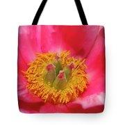 Beautiful Pink Peony Flower Vertical Tote Bag