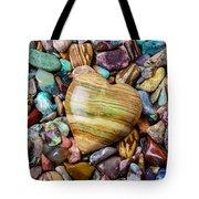 Beautiful Polished Colorful Stones Tote Bag
