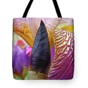 Beautiful Purple Iris Flowwer Floral Art Print Baslee Troutman Tote Bag