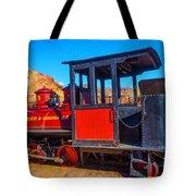 Beautiful Red Calico Train Tote Bag