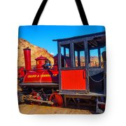 Beautiful Red Calico Train Tote Bag