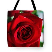 Beautiful Red Rose Abstract 3 Tote Bag