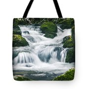 Beautiful River In Forest Tote Bag